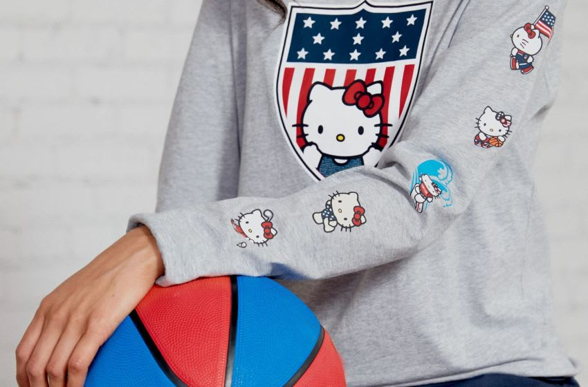 Team USA Hello Kitty Shield Long Sleeve Shirt. Photo: Sanrio.
