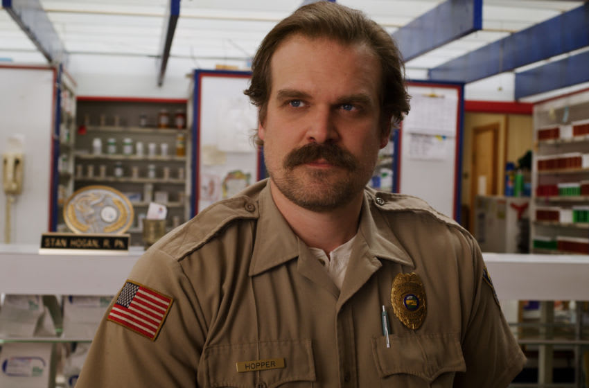 Stranger Things season 3 Jim Hopper. Image courtesy of Netflix.