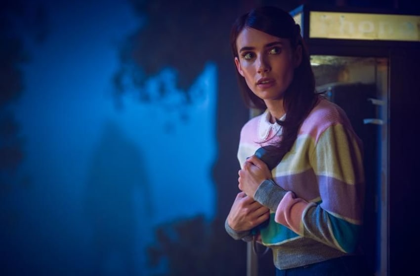 AMERICAN HORROR STORY: 1984 -- Pictured: Emma Roberts as Brooke Thompson. CR: Kurt Iswarienko FX
