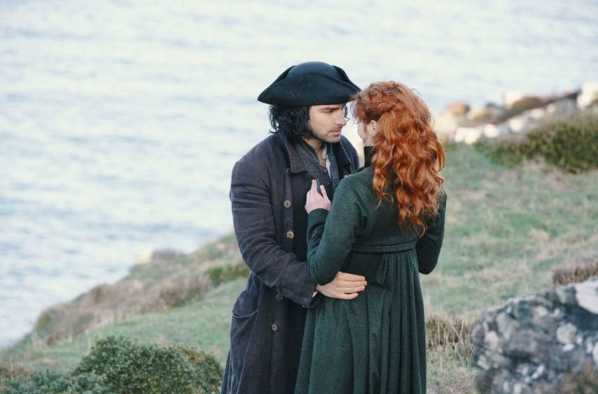 MASTERPIECE Poldark, The Final Season Sundays, September 29 - November 17th at 9pm ET Episode Three Sunday, October 13, 2019; 9-10pm ET on PBS Ross' tenacity in helping Ned bears fruit, but not without cost. Demelza wrestles with how best to equip the community to look after itself, and Morwenna lends herself to the cause and finds new hope. Geoffrey Charles and Cecily's relationship continues to blossom while her father Ralph pursues an arrangement with George, but George's sanity continues to deteriorate and Cary struggles under mounting responsibilities. Shown: from left to right: Aidan Turner as Ross Poldark and Eleanor Tomlinson as Demelza Poldark Courtesy of Mammoth Screen