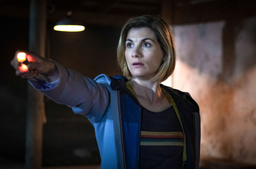 Jodie Whittaker as The Doctor - Doctor Who _ Season 12 - Photo Credit: Casey Crafford/BBC America/BBC Studios