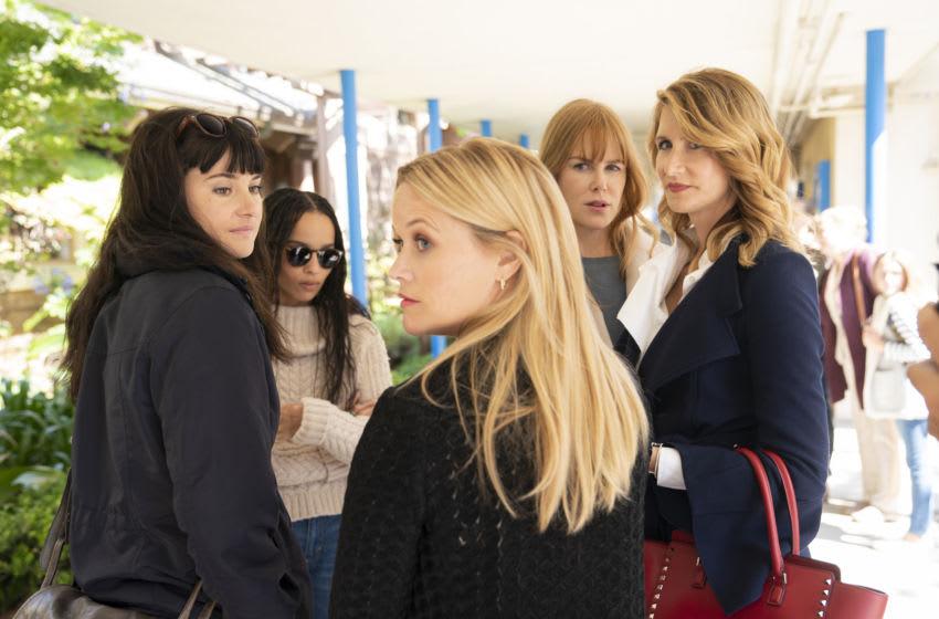 Big Little Lies Season 2: Shailene Woodley, Zoë Kravitz, Reese Witherspoon, Nicole Kidman, Laura Dern. photo: Jennifer Clasen/HBO