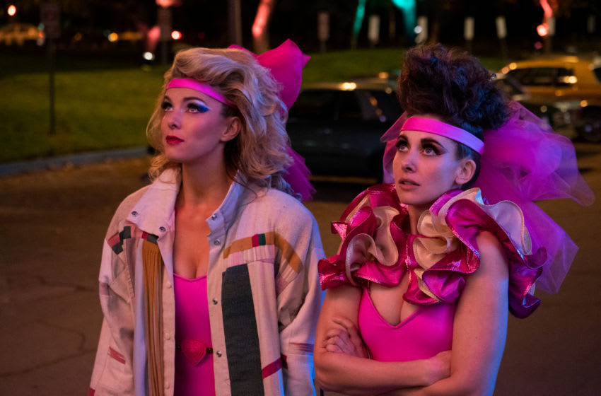 Photo: Betty Gilpin, Alison Brie.. GLOW: Season 3.. Credit: Ali Goldstein/Netflix