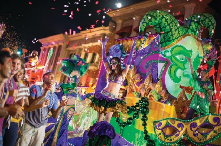 Universal Orlando Mardi Gras, photo provided by Universal Orlando Resort