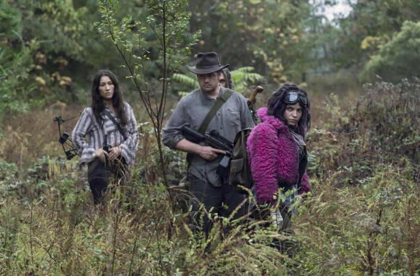 Khary Payton as Ezekiel, Eleanor Matsuura as Yumiko, Josh McDermitt as Dr. Eugene Porter, Paola Lazaro as Princess - The Walking Dead _ Season 10, Episode 15 - Photo Credit: Jace Downs/AMC