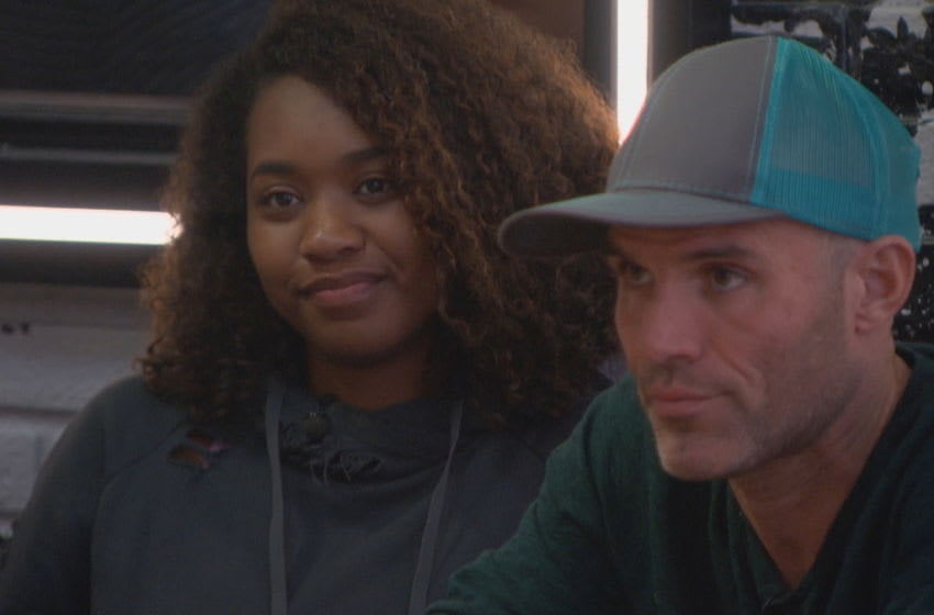 Season 22 of BIG BROTHER ALL-STARS follows a group of people living together in a house outfitted with 94 HD cameras and 113 microphones, recording their every move 24 hours a day. Each week, someone will be voted out of the house, with the last remaining Houseguest receiving the grand prize of $500,000. Airdate: September 6, 2020 (8:00-9:00PM, ET/PT) on the CBS Television Network Pictured: Bayleigh Dayton and Enzo Palumbo Photo: Best Possible Screen Grab/CBS 2020 CBS Broadcasting, Inc. All Rights Reserved