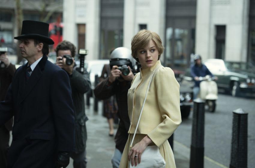 Picture shows: Princess Diana (EMMA CORRIN). Image courtesy Des Willie/Netflix