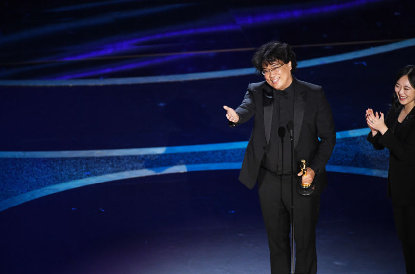 HOLLYWOOD, CALIFORNIA - FEBRUARY 09: Bong Joon-ho accepts the Directing award for 'Parasite' onstage during the 92nd Annual Academy Awards at Dolby Theatre on February 09, 2020 in Hollywood, California. (Photo by Kevin Winter/Getty Images)