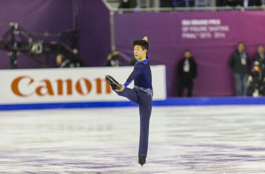 SPAIN - Dec,11th: Nathan CHEN during the ISU Junior (Photo by NurPhoto/NurPhoto via Getty Images)