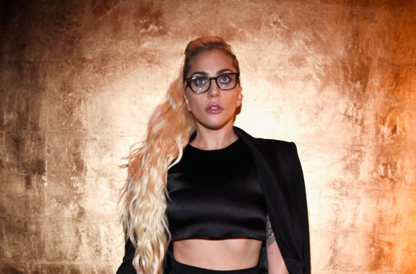 NEW YORK, NY - SEPTEMBER 13: Lady Gaga poses backstage before Brandon Maxwell's show during New York Fashion Week at Russian Tea Room on September 13, 2016 in New York City. (Photo by Kevin Mazur/Getty Images)