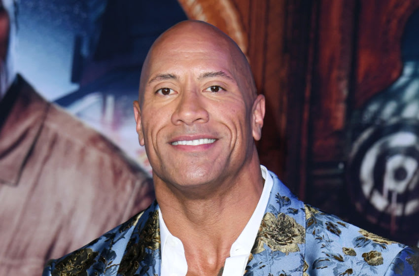 HOLLYWOOD, CALIFORNIA - DECEMBER 09: Dwayne Johnson attends the premiere of Sony Pictures'