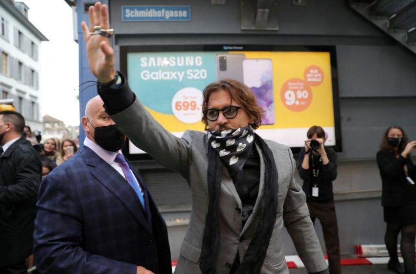 ZURICH, SWITZERLAND - OCTOBER 02: Johnny Depp attends the