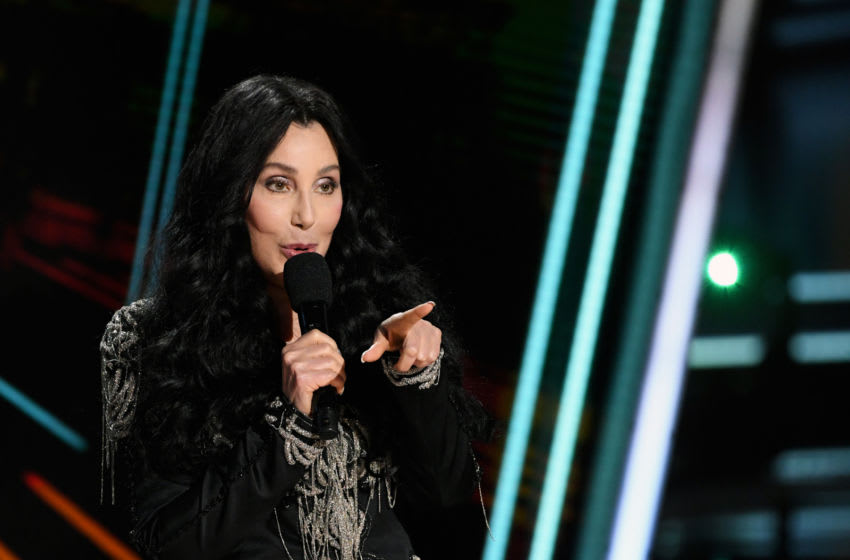HOLLYWOOD, CALIFORNIA - OCTOBER 14: In this image released on October 14, Cher presents the Icon Award onstage at the 2020 Billboard Music Awards, broadcast on October 14, 2020 at the Dolby Theatre in Los Angeles, CA. (Photo by Kevin Winter/BBMA2020/Getty Images for dcp)