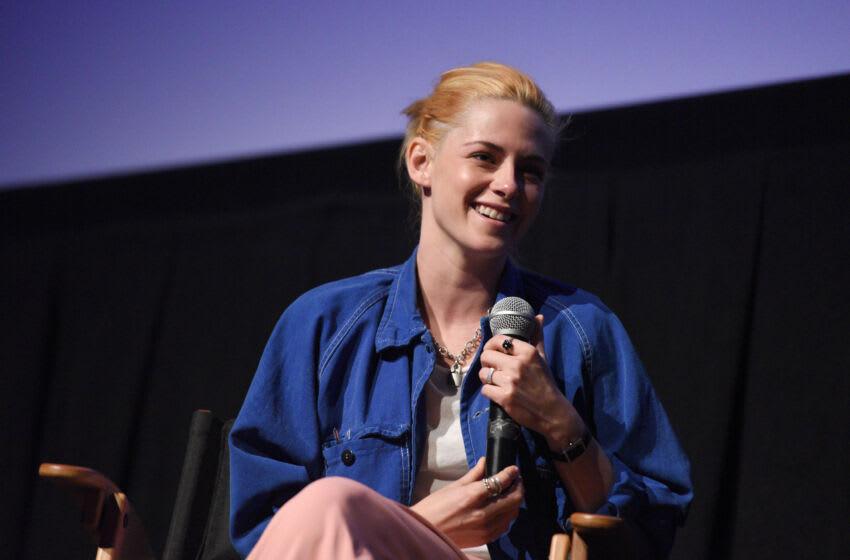 TELLURIDE, COLORADO - SEPTEMBER 06: Kristen Stewart speaks on stage after a screening of