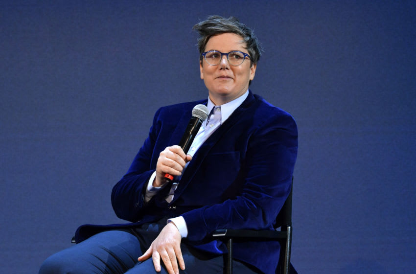 LOS ANGELES, CALIFORNIA - MAY 13: Hannah Gadsby speaks onstage during the FYSEE Hannah Gadsby conversation and reception at Raleigh Studios on May 13, 2019 in Los Angeles, California. (Photo by Emma McIntyre/Getty Images for Netflix)