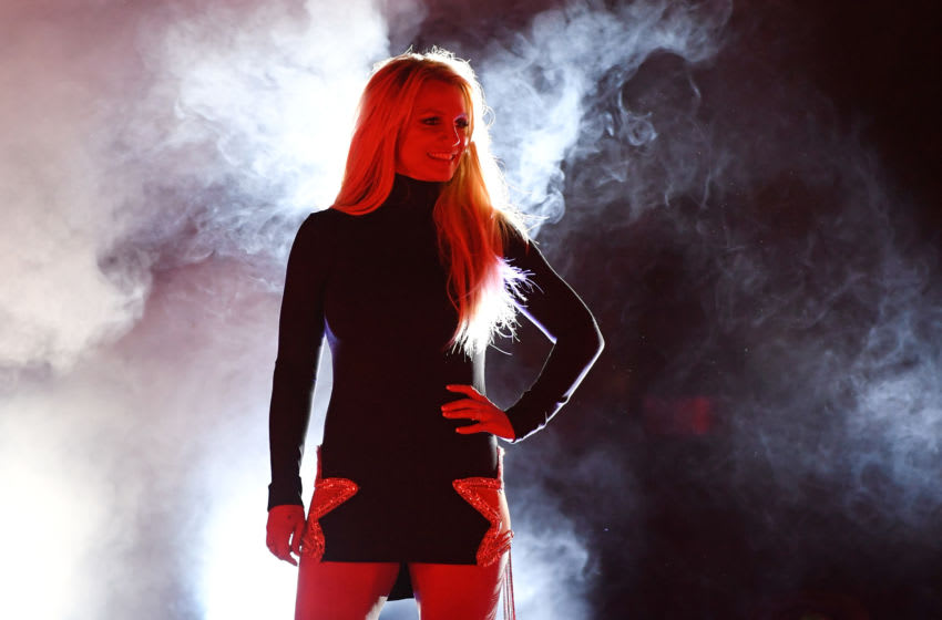 LAS VEGAS, NEVADA - OCTOBER 18: Singer Britney Spears attends the announcement of her new residency,