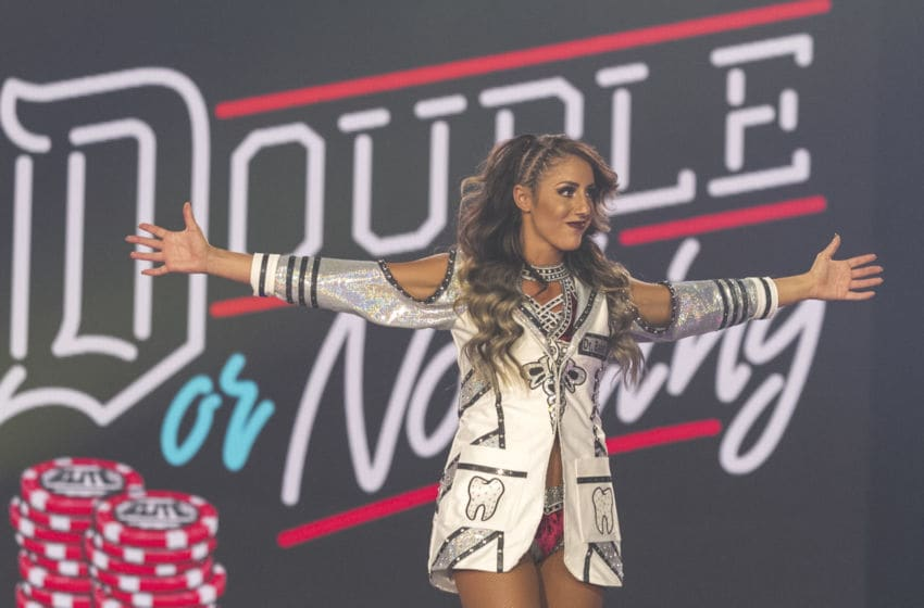 Britt Baker heads to the ring at AEW Double or Nothing. Photo credit: James Musselwhite/All Elite Wrestling