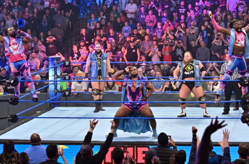 Heavy Machinery and The New Day teamed up on the October 18, 2019 edition of WWE Friday Night SmackDown. Photo: WWE.com