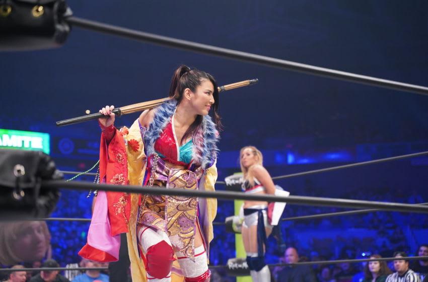 Hikaru Shida faces Shanna on the Oct. 30, 2019 edition of AEW Dynamite. Photo: Lee South/AEW
