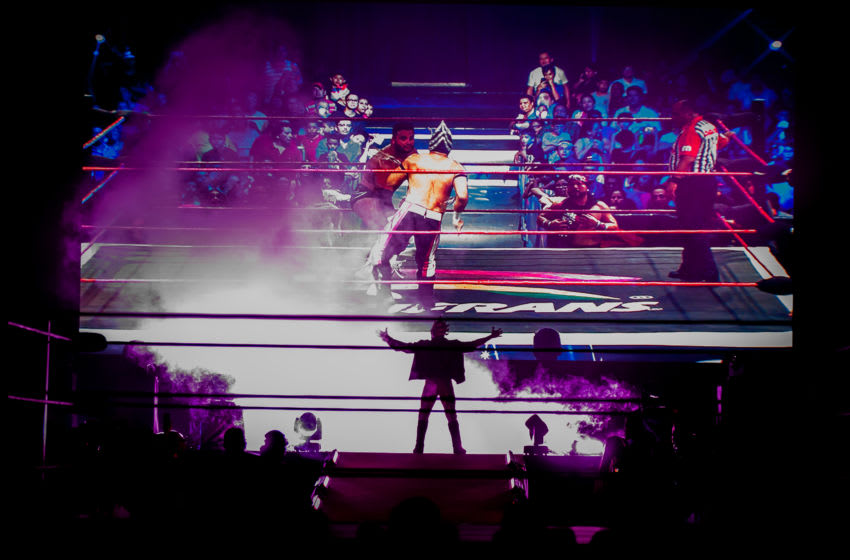 BOGOTA, COLOMBIA - NOVEMBER 16: Drago enters the arena during an AAA World Wide Wrestling match on November 16, 2018 in Bogota, Colombia. (Photo by Juancho Torres/Getty Images)