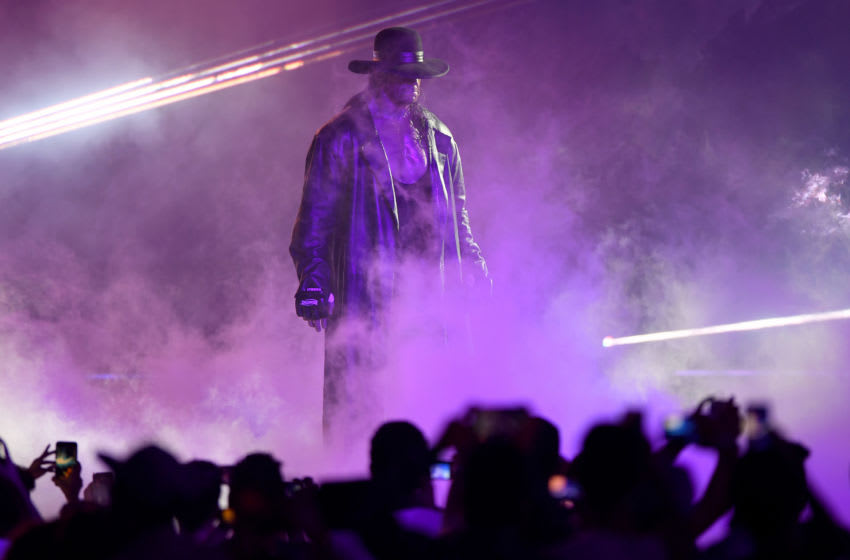 WWE, The Undertaker (Photo credit should read AMER HILABI/AFP/Getty Images)
