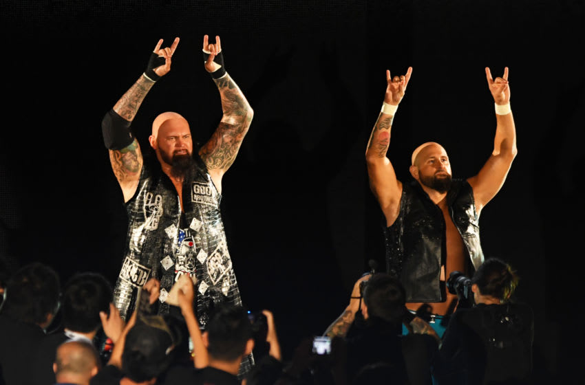 Luke Gallows, Karl Anderson (Photo by Etsuo Hara/Getty Images)