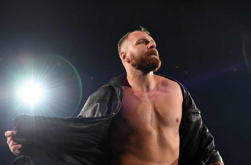 TOKYO, JAPAN - AUGUST 11: Jon Moxley enters the ring during the New Japan Pro-Wrestling G1 Climax 29 at Nippon Budokan on August 11, 2019 in Tokyo, Japan. (Photo by Etsuo Hara/Getty Images)