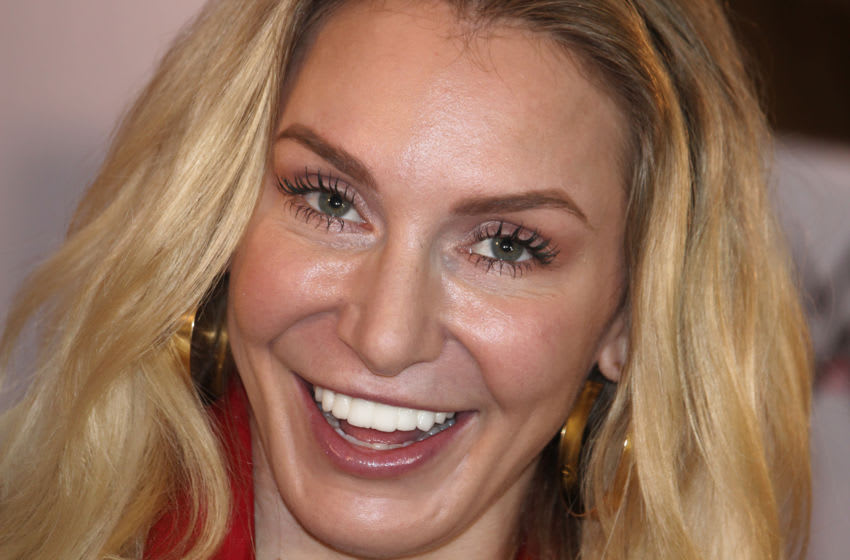 WWE Superstar Charlotte flair smiles during the Children Day celebration in Mumbai, India on 14 November 2019. Flair is an American professional wrestler, author and actress. (Photo by Himanshu Bhatt/NurPhoto via Getty Images)