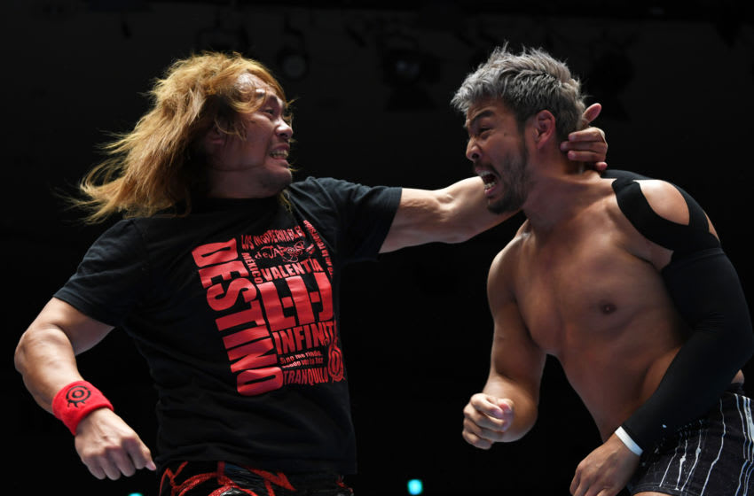 TOKYO, JAPAN - FEBRUARY 04: Tetsuya Naito and KENTA compete during the New Japan Pro-Wrestling 'Road to The New Beginning' at Korakuen Hall on February 04, 2020 in Tokyo, Japan. (Photo by Etsuo Hara/Getty Images)