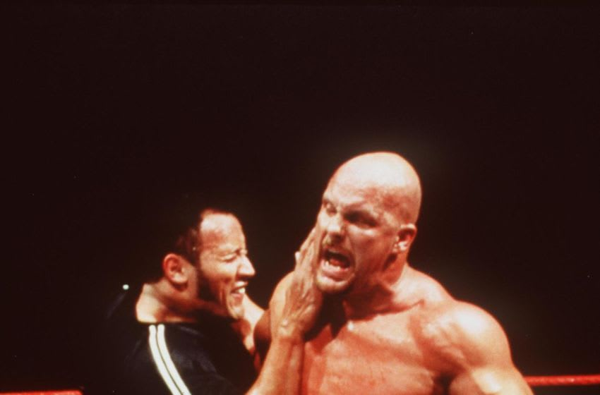 383804 01: The Rock And Stone Cold Steve Austin Star In