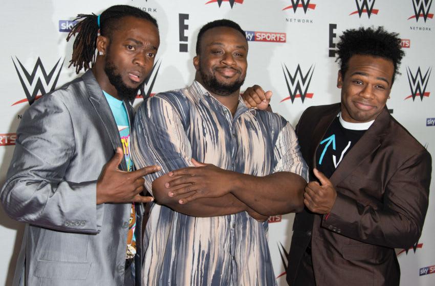 WWE, Big E, Kofi Kingston, Xavier Woods, The New Day (Photo by Ian Gavan/Getty Images)