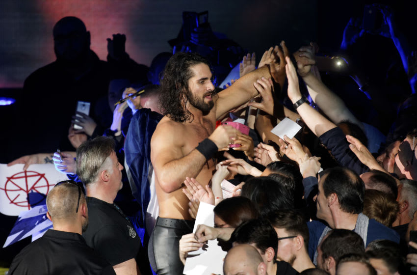 LILLE, FRANCE - MAY 09: Seth Rollins greets supporters after fighting during WWE Live 2017 at Zenith Arena on May 9, 2017 in Lille, France. (Photo by Sylvain Lefevre/Getty Images)