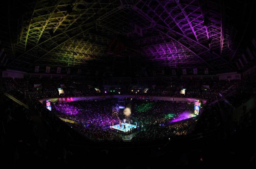TOKYO, JAPAN - OCTOBER 08: TOKYO, JAPAN - OCTOBER 08: A general view during the King of Pro-Wresting at Ryogoku Kokugikan on October 8, 2018 in Tokyo, Japan. (Photo by New Japan Pro-Wrestling/Getty Images) (Photo by Masashi Hara/Getty Images)