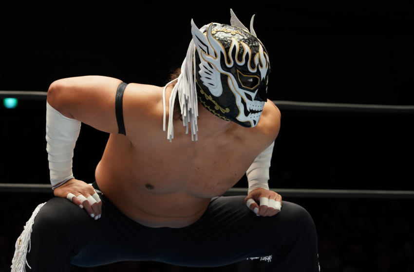 TOKYO, JAPAN - OCTOBER 27: El Desperado looks on during the New Japan Pro-Wrestling 'Road To Power Struggle' at Korakuen Hall on October 27, 2019 in Tokyo, Japan. (Photo by Etsuo Hara/Getty Images)