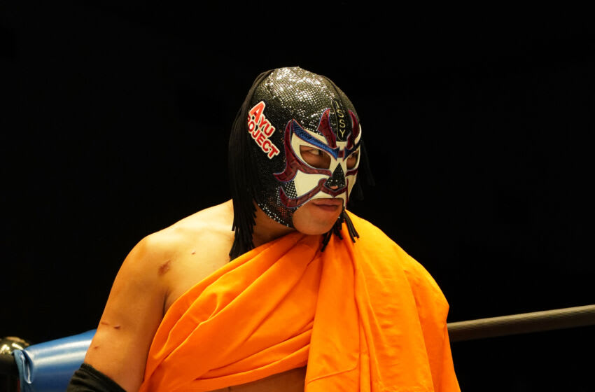 TOKYO, JAPAN - FEBRUARY 28: The Great Sasuke enters the ring during the Pro-Wrestling Masters at the Korakuen Hall on February 28, 2020 in Tokyo, Japan. (Photo by Etsuo Hara/Getty Images)
