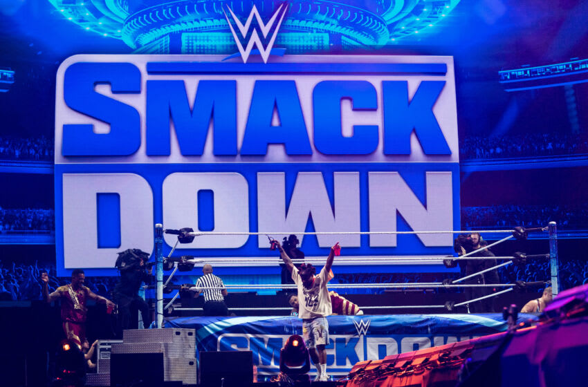 MIAMI GARDENS, FLORIDA - JULY 23: Wale onstage during the WWE Smack Down on day 1 at Rolling Loud Miami 2021at Hard Rock Stadium on July 23, 2021 in Miami Gardens, Florida. (Photo by Jason Koerner/Getty Images)