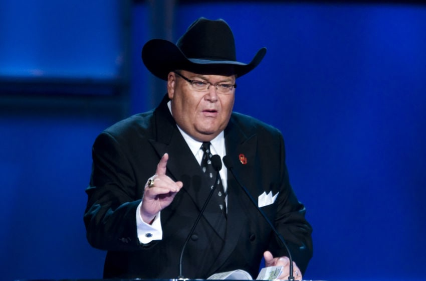 HOUSTON - APRIL 04: WWE television commentator Jim Ross attends the 25th Anniversary of WrestleMania's WWE Hall of Fame at the Toyota Center on April 4, 2009 in Houston, Texas. (Photo by Bob Levey/WireImage)