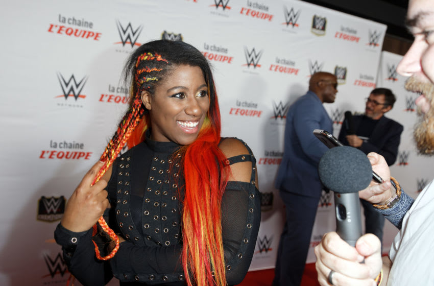 PARIS, FRANCE - MAY 19: Ember Moon attends WWE Wrestling pre-show on May 19, 2018 in Paris, France. (Photo by Sylvain Lefevre/Getty Images)