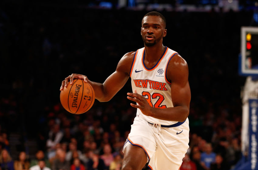 NEW YORK, NY - OCTOBER 20: Noah Vonleh #32 of the New York Knicks in action against the Boston Celtics at Madison Square Garden on October 20, 2018 in New York City. Boston Celtics defeated the New York Knicks 103-101. (Photo by Mike Stobe/Getty Images)