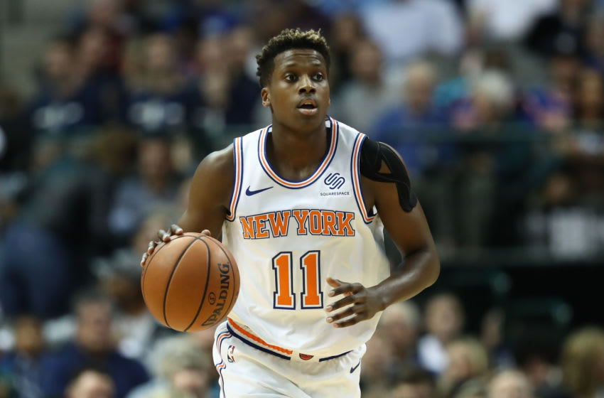 New York Knicks Frank Ntilikina(Photo by Ronald Martinez/Getty Images)