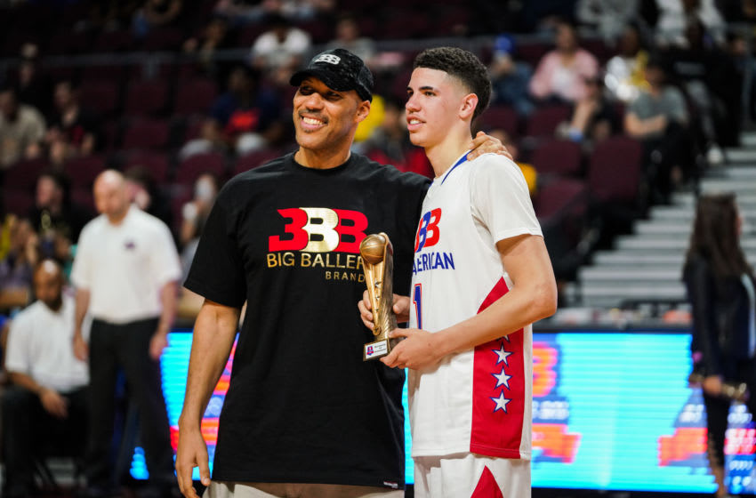 LaVar Ball and his son LaMelo Ball (Photo by Cassy Athena/Getty Images)