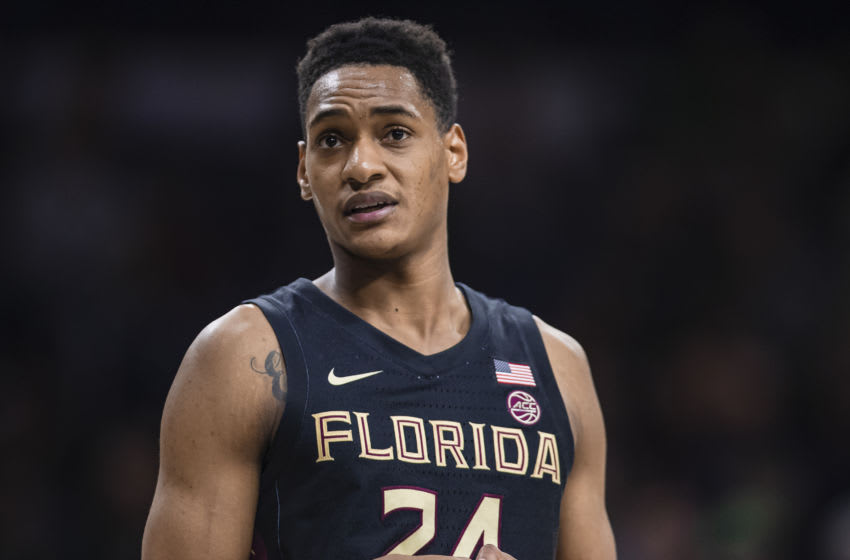 SOUTH BEND, IN - MARCH 04: Devin Vassell #24 of the Florida State Seminoles is seen during the game against the Notre Dame Fighting Irish at Purcell Pavilion on March 4, 2020 in South Bend, Indiana. (Photo by Michael Hickey/Getty Images)