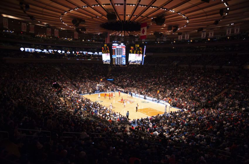 NEW YORK, NEW YORK - APRIL 08: A general wide view of Madison Square Garden on April 8, 2012 in New York City. (Photo by Benjamin Solomon/Getty Images)