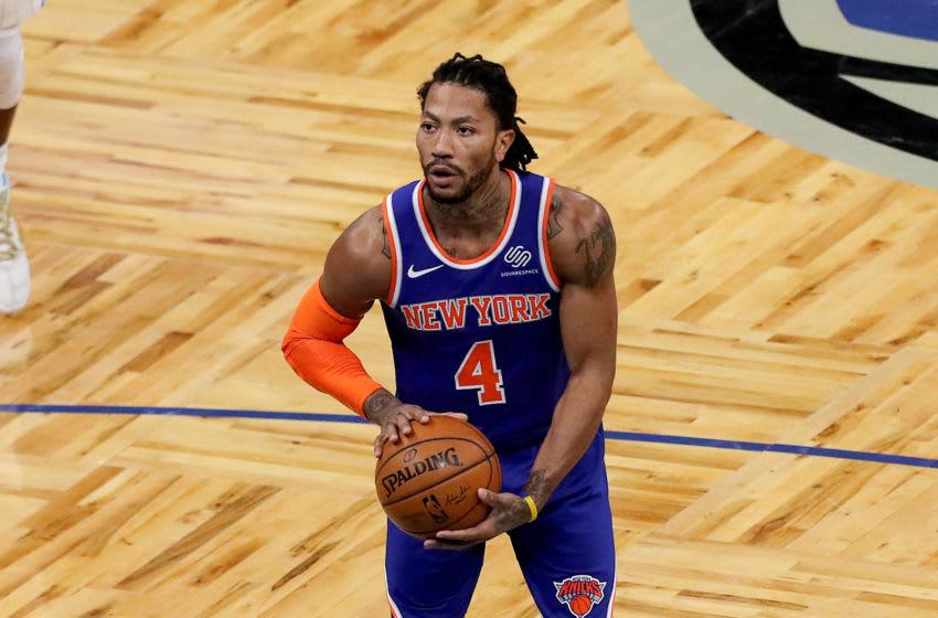 Derrick Rose, Knicks. (Photo by Alex Menendez/Getty Images)