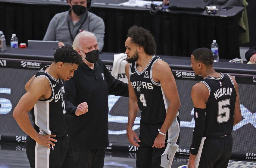 Knicks, Derrick White, Dejounte Murray (Photo by Jonathan Daniel/Getty Images)