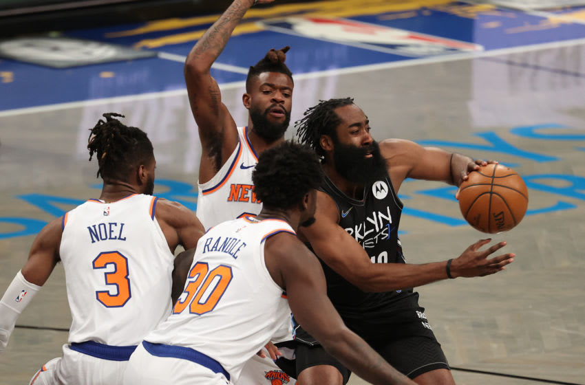 James Harden, Knicks. (Photo by Al Bello/Getty Images)