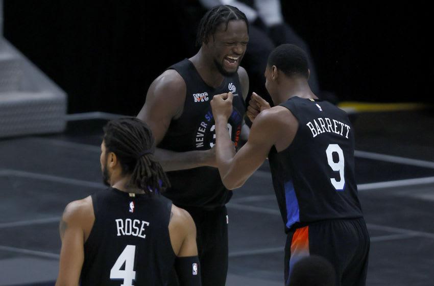 NY Knicks, RJ Barrett (Photo by Tom Pennington/Getty Images)