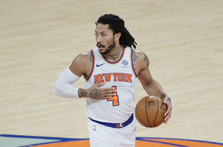 New York Knicks, Derrick Rose. (Photo by Sarah Stier/Getty Images)