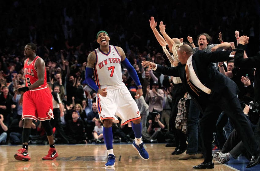 New York Knicks Carmelo Anthony (Photo by Chris Trotman/Getty Images)