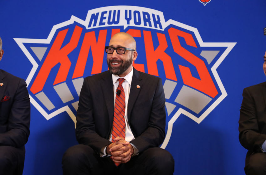NEW YORK, NY - MAY 8: David Fizdale is announced as the new head coach of the New York Knicks during a press conference on May 8, 2018 at Madison Square Garden in New York City, New York. Copyright 2018 NBAE (Photo by Nathaniel S. Butler/NBAE via Getty Images)